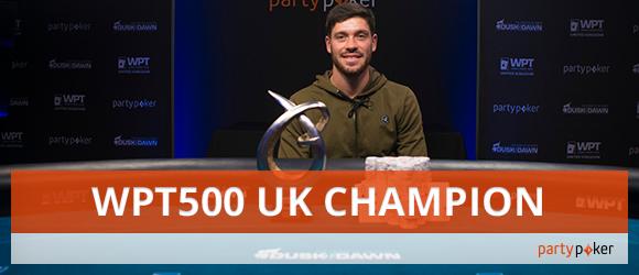 WPT500 UK champion