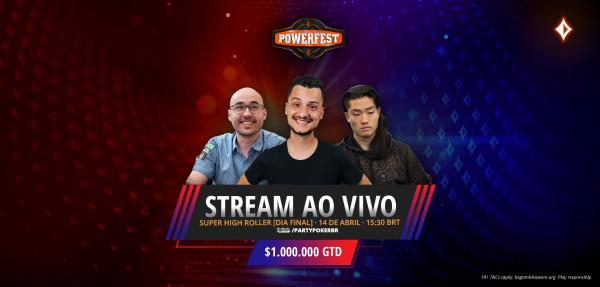 Com transmissão exclusiva na Twitch do partypoker, super craques decidem SHR de $ 25K nesta quarta; único brasileiro, Yuri fica fora da reta final