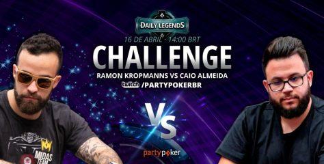 'Milionários' e parceiros de Midas Team, Ramon Kropmanns e Caio Almeida duelam nesta sexta pelo Daily Legend Challenge