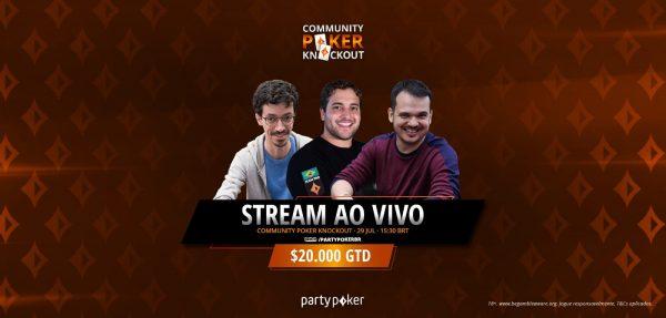 Sketch, Will e Simão transmitem Community Poker Knockout nesta quinta