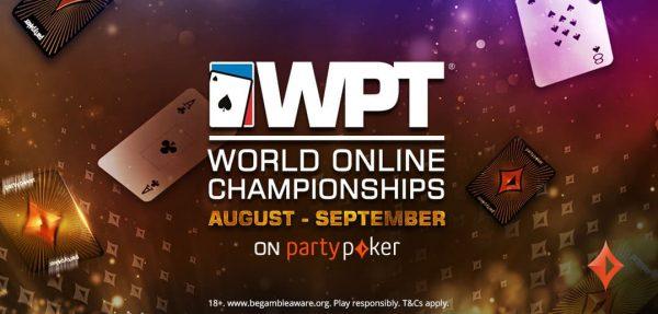 WPT® World Online Championships retorna ao partypoker em agosto