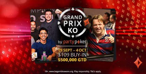 Grand Prix KO Series retorna ao partypoker no próximo domingo